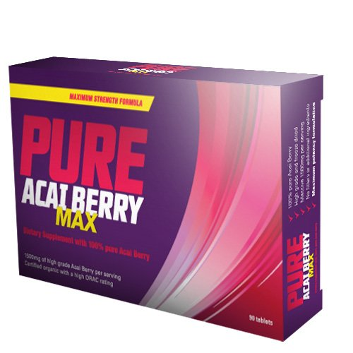 Pure Acai Berry Max - Suplemento - Quemadores de grasa, pérdida de peso, píldoras de dieta para adelgazar