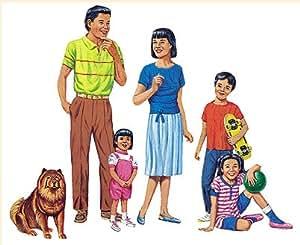 Little Leaf Asian Family Flannelboard Set