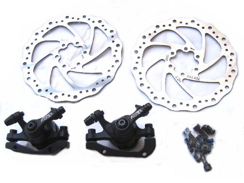 Image of Full Set Tektro Front+Rear Aquila Disc Brake Rotor Caliper for Mountain Bike Bicycle (B004OHZ2DK)