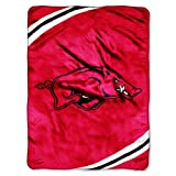 Northwest Arkansas Razorbacks NCAA Royal Plush Raschel Blanket - Force Series - 60 x 80 Inch