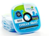 Chilly Paks. Ice Packs. Blue. Set 4.