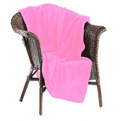 Light Pink Throw Blanket