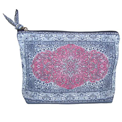 Large Makeup Bag by Derin (Denim Pink)