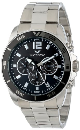 Viceroy Men's 432127-55 Visept11 Round Stainless Steel Dual Time Day Date Watch
