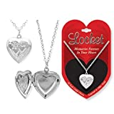 Childrens Silver Heart Locket Necklace