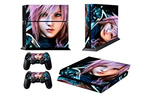 Ps4 Skins Final Fantasy 13-3 Farron Claire Vinyl Decal Cover for Playstion 4 Console and Two Controllers Skin