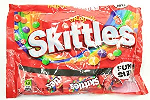 10.72 Oz. Bag of Snack Size Packs Original Skittles Fruity Flavored Chewy Candy