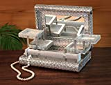 "Christmas Gift Royal Jewelry Chest Box Organizer (11 x 8"") Large Wooden Keepsake Storage Box"