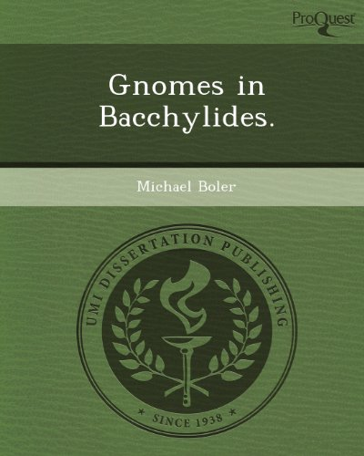 Gnomes in Bacchylides