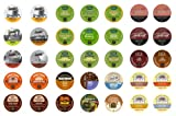 Crazy Cups Flavored Coffee Sampler, Single-cup coffee Premium Sampler Pack for Keurig Single serve cup Brewers, 35-Count