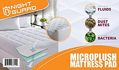 Night Guard - Fitted Mattress Topper - Overfilled Ultra Soft Microplush Mattress Pad. Fits Mattresses up to 18-inch