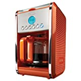 BELLA 13845 Dots Collection 12-Cup Programmable Coffee Maker, Orange by BELLA