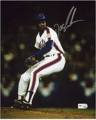 """Dwight Doc Gooden New York Mets Autographed 8"""" x 10"""" Vertical Pitching Photograph - Fanatics Authentic Certified"""