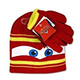 Disney Cars Lightning Mcqueen Winter Beanie Hat & Gloves Set
