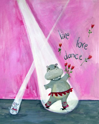 Cici Art Factory Wall Art, Live Love Dance, Small