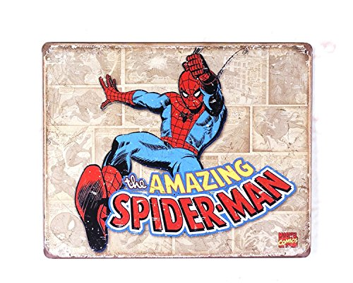 SPIDER MAN, Metal Vintage Tin Sign , Retro Vintage Decor Tin Sign 8x12inch