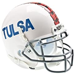 TULSA GOLDEN HURRICANE Schutt AiR XP Full-Size REPLICA Football Helmet (WHITE) by ON-FIELD