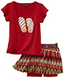 Paperdoll Girls 2-6X Screen Knit Short Sleeve Top