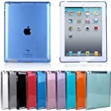HDE Smart Cover Compatible Transparent Colored Snap-On Back Cover Hard Shell Case for iPad 2/3/4 (Clear)