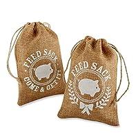 Kate Aspen Burlap Feed Sack Favor Bag, Brown from Kate Aspen