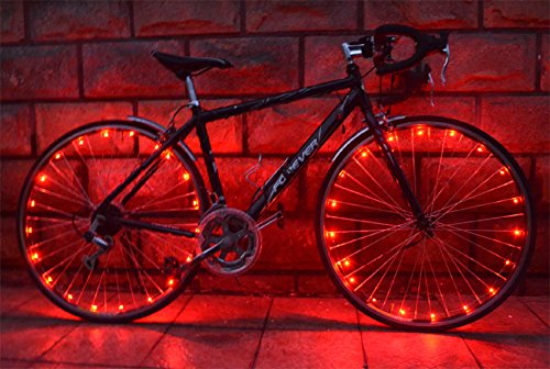 OuterStar Waterproof 20-LED Light String Bicycle Wheel Light for Safety and Fun (Set of 2) (Led Light Strip For Bikes compare prices)