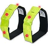 3M Scotchlite Reflective Armband or Ankle Band - High Visibility Outdoor Gear For Arm, Wrist, Leg or Ankle Use - Increased Safety for Running, Cycling, Walking, Kids & Pets (2-Pack)
