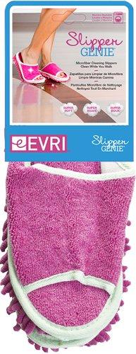 Slipper Genie Microfiber Cleaning Slippers, Pink
