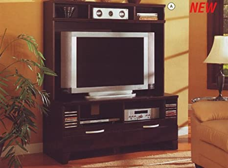 Plasma TV Entertainment Center in a Rich Cappuccino Finish by Coaster Furniture