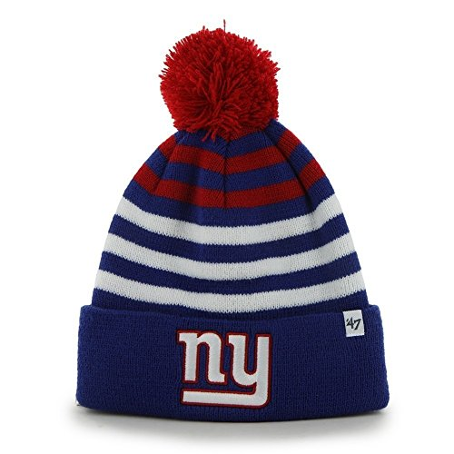 Nfl New York Giants Kid'S '47 Brand Yipes Cuff Knit Hat With Pom, Royal front-1046502