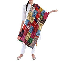 Kiara Crafts Women's Stole (kc-024_Multi_Freesize)