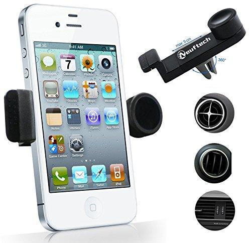 Neuftech® Airframe Support ventouse Voiture auto universel Pour Smartphone téléphone portable / GPS / PDA / PSP / iPod / iPhone / MP3 / MP4 (Noir)