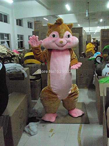 The Squirrel Mascot Costumes For Adults, Christmas Halloween Outfit Fancy Dress Suit