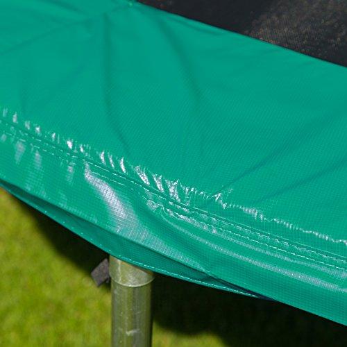 Ultrasport Randabdeckung für Gartentrampolin Ultrasport Jumper Wave in Grün, 366 cm -