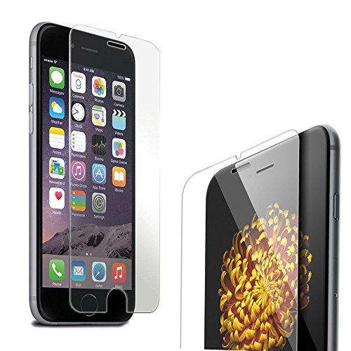 """Boriyuan Iphone 6 Screen Protector, [Tempered Glass Protection] Ultra Slim Crystal Clear Premium Nano 4.7"""" Iphone 6 Tempered Glass Screen Protector For Apple Iphone 6 4.7 Inch (2014) Smartphone - Brand New In Retail Package, Comes With A Micro Fiber Clean"""