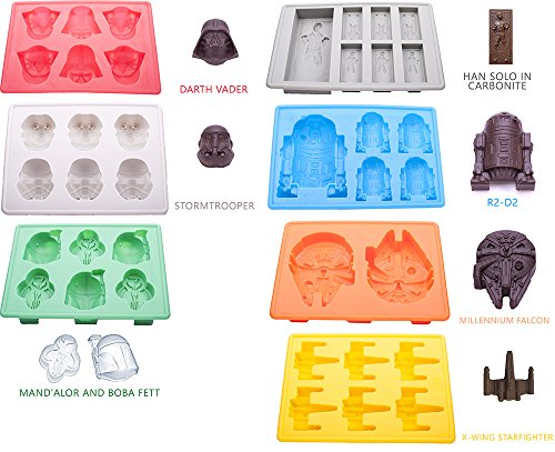 Set of 7 Star Wars Silicone Ice Cube Trays / Candy Molds