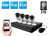 Home Business Video Security Camera System Wired, w/4 Bullet Super HD 1440P...