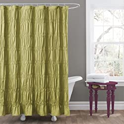 Lush Decor Emily Shower Curtain, Green
