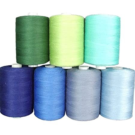 Cotton Thread Set - 7 Ocean Tones - 1000M