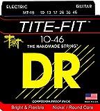 DR エレキ セット弦 TITE-FIT ニッケルプレート  ミディアム 10-46 MT-10