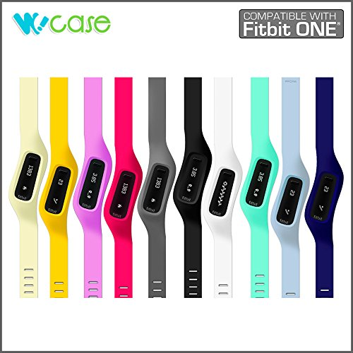 WoCase OneBand Fitbit One Accessory Wristband Bracelet Collection (2015 Lastest Version, Bundled or Single Band) and Rainbow Pack Fasteners(SOLD SEPARATELY) for Fitbit ONE Activity and Sleep Tracker (Turn Your Fitbit ONE into Wearable FLEX/FORCE/CHAR