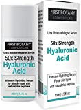 50X Strength Hyaluronic Acid Serum for Skin - The Ultra Moisture Magnet Serum by First Botany Cosmeceuticals with Highest Quality, best Anti-Aging Serum, Intense Professional Hydration & Moisturization, Non-greasy, Paraben-free, Vegan... One of the best H