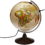Idena 569904 - Geografischer Globus mit Licht und Lupe, 30...