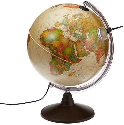 Idena-569904-Geografischer-Globus-mit-Licht-und-Lupe-30-cm