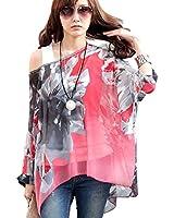 Atdoshop(TM) Shirt Femmes Mode Batwing manches chauve-souris en mousseline de soie Fleurs Tops Blouse
