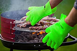Heat Resistant Silicone Gloves - Ideal for BBQ, Grilling, Cooking, Smoking - Durable & Built To Last