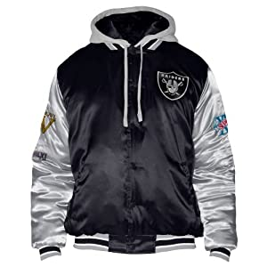 Oakland Raiders Three Time Championship Satin Jacket by G-III Sports