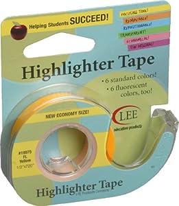 """Fluorescent Highlighter Tape 1/2""""X720""""-Fluorescent Yellow"""