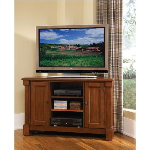 51%2BUnozSv%2BL Home Styles 5520 07 Aspen Corner TV Stand, Rustic Cherry Finish