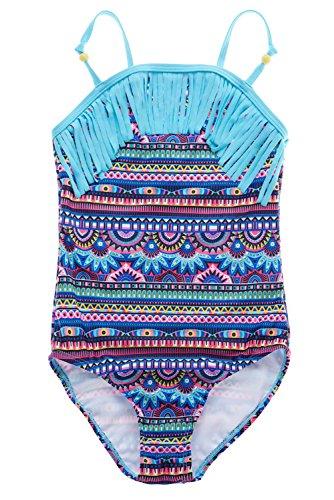 7361112016 V FOR CITY Big Girls's Ruffle One Piece Swimsuits Leaf Print Bathing Suit  Swimwear