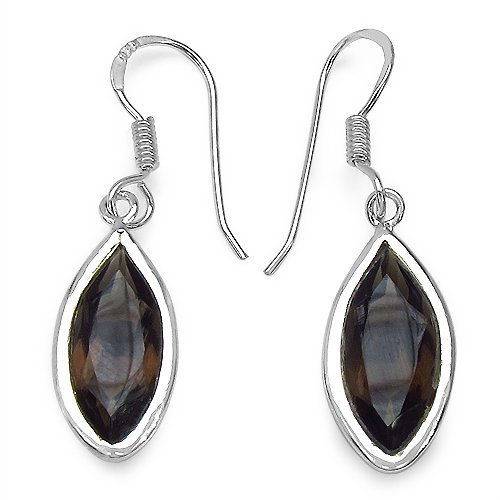 Johareez Topaz Silver Earrings (multicolor)